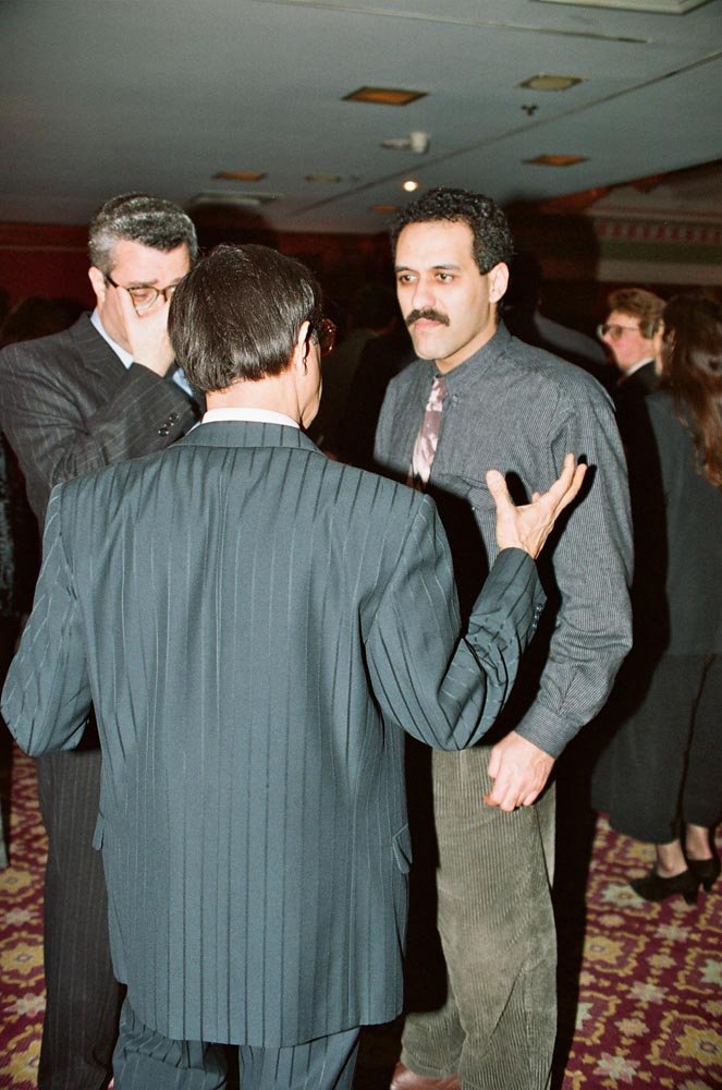 March 6, 1991  Talal Showaish talking to other guests at the UBK reception
