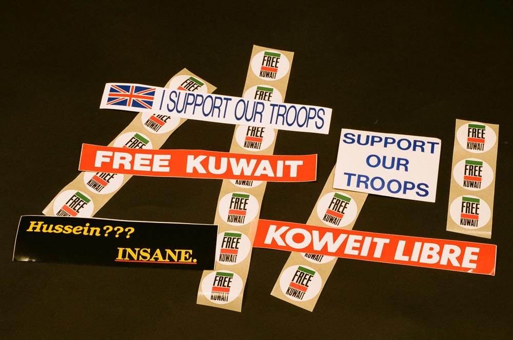 Stickers  Designed by Michael Lorrigan, Sam Bassan, and Ali Al-Mulaifi, with the exception of